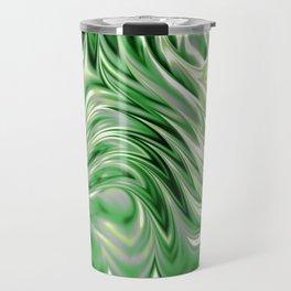 Aromantic Pride Abstract Ripples Design Travel Mug