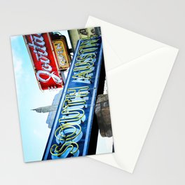 South Austin Neon Stationery Cards