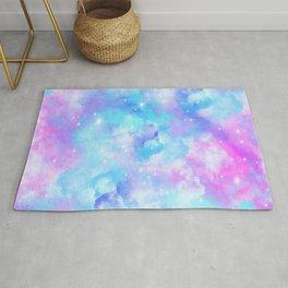 Pastel clouds art Rug