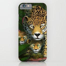 Jaguar in paradise iPhone Case