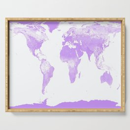 wOrld Map Lavender Serving Tray