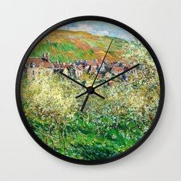 Claude Monet - Flowering Plum Trees - Claude Monet Wall Clock