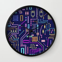 Circuits Wall Clock