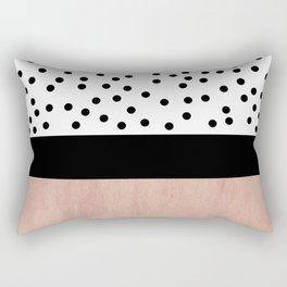 Pink marble and dots Rectangular Pillow