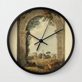 Ruins Of Rome Wall Clock
