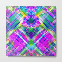 Colorful digital art splashing G469 Metal Print
