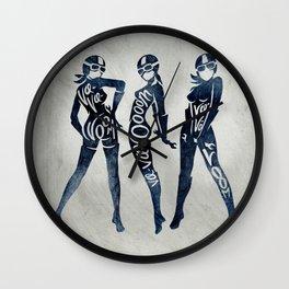 """Va-Va-Voom """"Lucy"""" Motorcycle Pin Up Girl Wall Clock"""