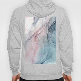 Calming Pastel Flow- Blush, grey and blue Hoodie