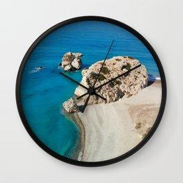 Aphrodite's Rock Cyprus Wall Clock