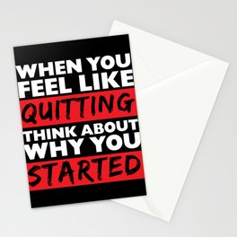 Motivations Shirt - Give up? Think about your start - Motivation for everyone Think positive Stationery Cards