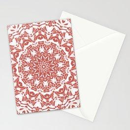 Desert Rose and White Mandala Stationery Cards