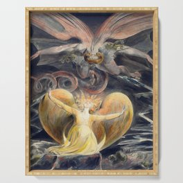 William Blake The Great Red Dragon and the Woman Clothed with the Sun Serving Tray