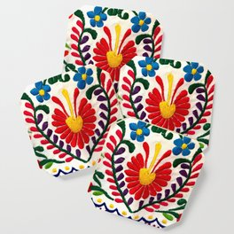 Red Mexican Flower Coaster