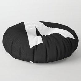 Letter A (White & Black) Floor Pillow