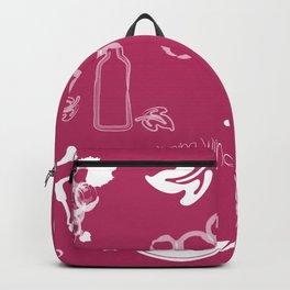 Wine Background Pattern - 05 Dark Backpack
