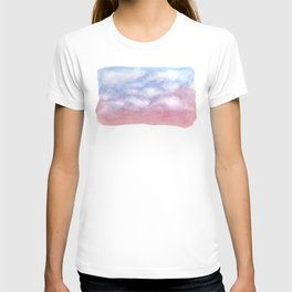 Sunset Clouds Watercolor T-shirt