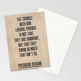 President Reagan Quote Stationery Cards