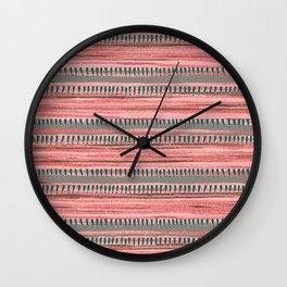 Watercolor Ribbons Wall Clock