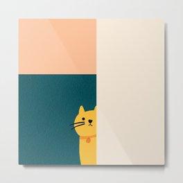 Little_Cat_Cute_Minimalism Metal Print