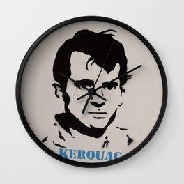 Jack Kerouac Record Painting Wall Clock