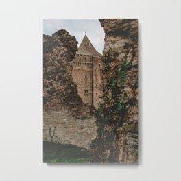 Tower behind the ruins Metal Print