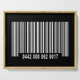 Barcode #1 inverse Serving Tray
