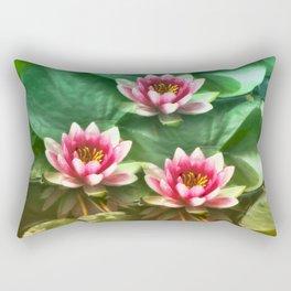 Waterlilies delicate Rectangular Pillow