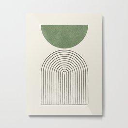 Arch balance green Metal Print