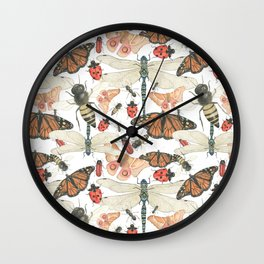 Scattered Bugs Wall Clock