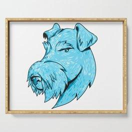 Bingley Terrier Head Drawing Serving Tray