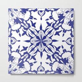 Moroccan Tiles Inspired Metal Print