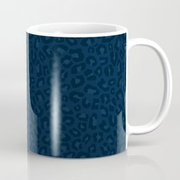 Leopard Print 2.0 - Navy Blue Coffee Mug