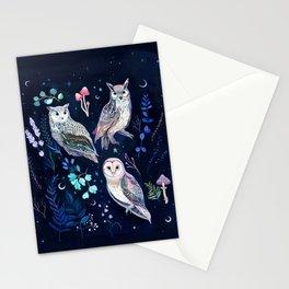 Night Owls Stationery Cards