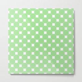 Light Green Octagon Seamless Pattern  Metal Print