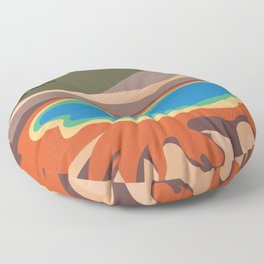 Grand Prismatic Spring, Yellowstone National Park, Wyoming, USA Floor Pillow