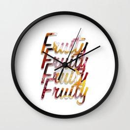 Fruity Fruity Fruity Fruity Wall Clock