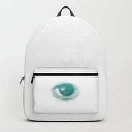 Halftone Eyeball Trippy Eyes Backpack
