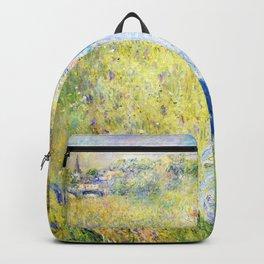 Pierre-Auguste Renoir - Woman Picking Flowers - Digital Remastered Edition Backpack