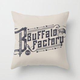 BUFFALO FACTORY  Vintage Typography Throw Pillow