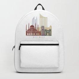 Beirut skyline poster Backpack