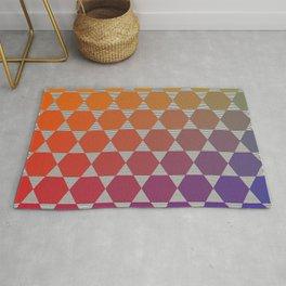 Lichtenberg-Mayer Colour Triangle recoloured remake, based on Mayer's original idea and illustration Rug