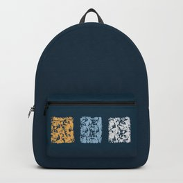 Blue with Squares Backpack