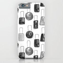 Nail Polish | Black iPhone Case