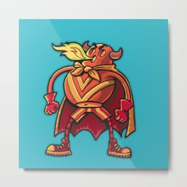 Super hero Flame-man Metal Print