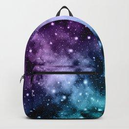 Purple Teal Galaxy Nebula Dream #2 #decor #art #society6 Backpack