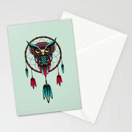 Owl Bird Dreamcatcher Art Stationery Cards