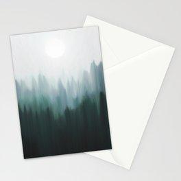 Autumn Fog   Green Edition Stationery Cards