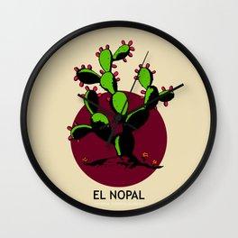 El Nopal Mexican Loteria Card Wall Clock
