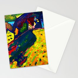 Wassily Kandinsky - Houses in Murnau - Abstract Art Stationery Cards