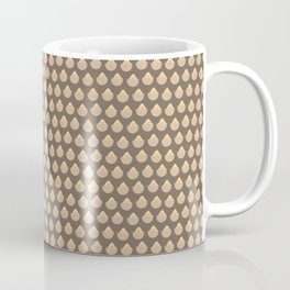 Brown Happy Easter Egg Pattern Coffee Mug